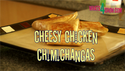 Learn how to make cheesy chicken chimichangas