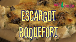 Learn how to cook beautifully succulent escargot with roquefort cheese