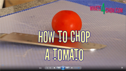 Learn how to chop or dice a tomato with this quick video demonstration