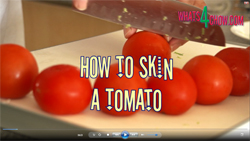 Learn how to skin a tomato with this quick video demonstration