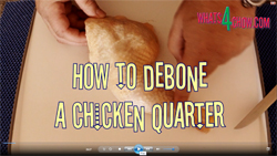 Learn how to debone a chicken quarter with this quick video recipe demonstration
