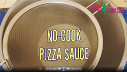 Learn how to make pizza sauce with this no-cook pizza sauce recipe and demonstration