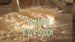 Learn how to make pizza bases with this no-knead pizza dough recipe