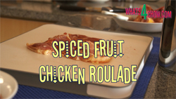 Learn how to make and cook spice fruit chicken roulade with our video recipe demonstration