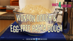 Learn to make wonton dough and egg-free pasta dough with this video recipe demonstration
