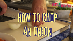 Learn the easiest way to chop an onion