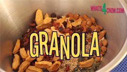 How to make Granola. Healthy granola recipe.