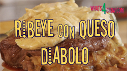 Stuffed Ribeye Steak - Ribey con Queso Diabolo
