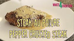 Learn how to make steak au poivre - pepper crusted steak