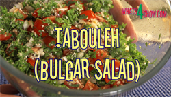 Learn how to make tabbouleh salad, or bulgar salad