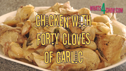 Chicken with Forty Cloves of Garlic. Garlic Roast Chicken.