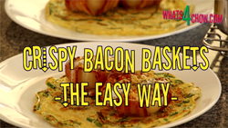 Crispy Bacon Baskets - Bacon Cups - Bacon Bowls