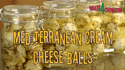 How to make Mediterranean cream cheese