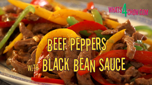 Beef with peppers and black bean sauce