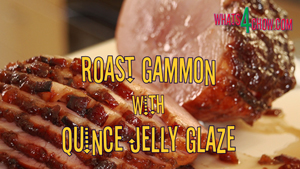 Roast Gammon with Quince Jelly Glaze. How to cook glazed gammon. How to glaze a ham.