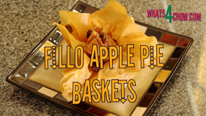 Sherry Apple Pie Fillo Baskets. How to make sherry apple filling in fillo pastry baskets.
