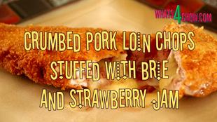 Crumbed Stuffed Pork Loin Chop,crispy crumbed pork chop recipe,how to stuff a pork loin chop,how to crumb a pork loin chop,deep-fried pork loin chop recipe,how to deep fry a pork loin chop,pork chop stuffed with brie and strawberry jam,stuffed pork chop recipe,best pork chop recipe,, pan-fried crusted pork chops, grilled crusted pork chops,how to fry pork chops,pork loin chop stuffed recipe