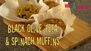 savory muffins recipe,savoury muffins recipe,how to make savory muffins,how to make savoury muffins,Black Olive Feta & Spinach Muffins,muffins using olives and feta,muffins using spinach and feta,muffins using black olives and feta,mediterranean style muffins,muffins with feta cheese,muffins in baking paper,make muffins using baking paper,savory muffin recipe vegetarian, savory muffins recipe easy, savory muffin recipes healthy, savory muffin recipe breakfast