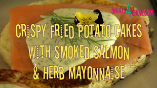 potato cakes with smoked salmon and herb mayonnaise,crispy fried potato cakes with lox,fried potato cakes with smoked salmon,smoked salmon potato cakes,how to make potato cakes with smoked salmon,herbmayonnaise with smoked salmon on potato cakes,, potato pancakes with smoked salmon recipe, potato pancakes with smoked salmon and dill creme fraiche, dill potato cakes with smoked salmon, mini potato pancakes with smoked salmon, potato pancakes with smoked salmon sour cream and dill