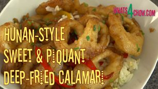 Hunan-Style Sweet & Piquant Deep Fried Calamari,chinese deep-fried calamari,sweet and sour deep-fried calamari,deep-fried squid,sweet and sour deep fried squid,chinese deep fried squid,sweet and sour deep fried squid,chinese deep fried calamari, fried calamari, fried squid, fried calamari recipe, crispy fried calamari, chinese deep fried calamari recipe, asian deep fried calamari, chinese style deep fried squid