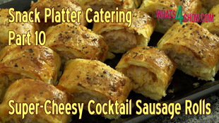 Super Cheesy Cocktail Sausage Rolls,mini sausage rolls,snack food,finger food,snack platter food,cheesy sausage roll recipe,homemade sausage rolls,how to make cheesy sausage rolls,cheesy sausage rolls recipe,finger food recipes,snack platter recipes,cheese pastry,Sausage Roll (Dish),easy sausage roll recipe,easy cheese sausage roll recipe,how to make cheese sausage rolls,best sausage roll recipe,sausage roll video recipe