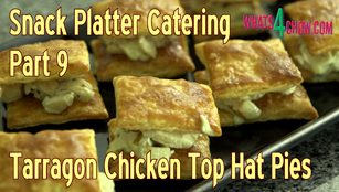mini tarragon chicen top hat pies,chicken pies,tarragon chicken pies,creamy chicken pies,snack chicken pies,finger snack chicken pies,cocktail chicken pies,creamy chicken pastries,fingerfood chicken pies,miniature chicken pies,tarragon chicken pastries,finger foods,snack foods recipes,cocktail party recipes,snack platter recipes,snack basket recipes
