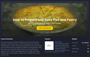Pies & Pastry Courses Page