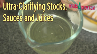 clarifying stock,how to clarify stock,ultra-clarifying stock,how to ultra clarify stock,how to ultra-clarify stock,clarifying sauces,clarifying fruit juices,how to clarify liquids,how to clarify solutions, clarifying stock with gelatin, clarifying stock with agar, consommé (dish),clarification,clarifying chicken stock,consommé - clear soup - broth clarification - how to,broth clarification