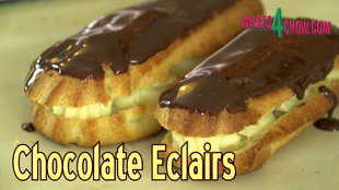how to make chocolate eclairs,easy chocolate eclairs recipe,quick chocolate eclairs recipe,chocolate eclairs video recipe,filling recipe for chocolate eclairs,chocolate glaze recipe for chocolate eclairs,best chocolate eclairs recipe, éclair (food), chocolate, choux pastry, how to make eclairs, how to make chocolate eclairs at home, how to make chocolate eclairs youtube, how to make chocolate eclairs from scratch