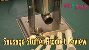 upright susage stuffer,stainless steel sausage stuffer,7lb sausage stuffer,3kg sausage stuffer,upright sausage filler,stainless steel sausage filler,7lb sausage filler,3kg sausage filler,hand crank sausage filler,sausage filler product review,suasage stuffer product review,how to use a sausage stuffer,sausage stuffer with funnels,product review sausage filler stuffer