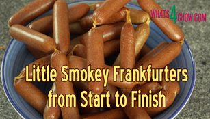 how to make cocktail frankfurters,how to make cocktail sausages,lil smokey sausage,how to make lil smokey sausages,smoked mini frankfurters,how to make sausage,smoked cocktail frankfurter sausages from scratch,homemade frankfurter sausages,homemade sausage,how to make sausage at home,mini frankfurter sausage recipe,how to make cocktail sausages at home,homemade sausage recipe,how to smoke sausage,homemade lil smokey sausage recipe,making frankfurters at home