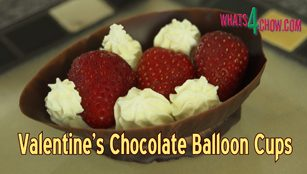 how to make chocolate balloon bowls,how to make chocolate balloon cups,home mmade chocolate balloon bowls,homemade chocolate balloon cups,making chocolate balloon bowls at home,valentine's day chocolate balloon bowls,chocolate balloon bowls dessert recipe,how to make chocolate balloon bowls,using balloons to mold cups,using balloons to mold bowls,simple chocolate balloon bowls,easy chocolate balloon bowls