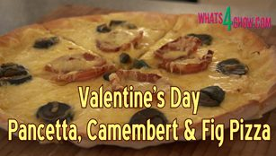 valentine's day recipe,savoury and sweet pizza recipe,pizza with pancetta recipe,pizza of love,sweet and savory pizza,pizza with pancetta and figs,pizza with pancetta and camembert,valentine's day pizza,how to make pizza,valentine's day pizza recipe,quick and easy gourmet pizza,special pizza recipe,sweet & sour pizza recipe,pancetta pizza recipe