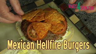 mexican burgers,spicy mexican burgers,mexican hellfire burgers,hot and spicy burgers,how to make mexican burgers,super hot mexican burgers,serious burgers,insanely hot mexican burgers,jalapeno burger recipe,chilli burger recipe