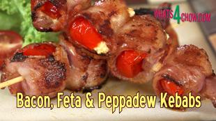 bacon, feta, peppadew, kebabs, bacon feta and peppadew kebabs, how to make bacon feta and peppadew kebabs, bacon feta and peppadew kebabs recipe, bacon feta and peppadew kebabs video recipe, bacon feta and peppadew kebabs youtube, best kebabs recipe, best kebabs recipe youtube, bacon feta and piquant peppers kebabs,
