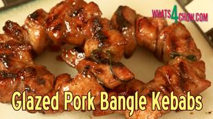 barbecue glazed pork bangle kebabs, glazed circular kebabs, glazed bracelet kebabs, barbecue pork kebabs, pork bracelet kebabs on your barbecue, chinese stye pork bracelet kebabs on your barbecue, special pork bangle kebabs on you barbecue, how to make circular kebabs, threaded bracelet kebabs, sweet glazed pork kebabs, round pork kebabs on the barbecue, best pork kebabs recipe, best pork kebabs video recipe, best pork kebabs recipe youtube, how to make round pork kebabs youtube,