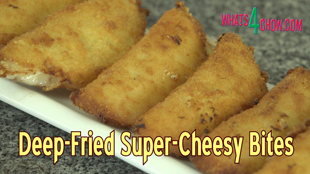 deep-fried cheese bites, crispy deep-fried mini chese pies, crispy fried cheese parcels, sweet gow gee, deep-fried cheese fold-overs, deep-fried cheesy pocket pies, super chessy pocket pies, blue cheese and preserve deep-fried dessert pies, how to make super cheesy dessert pies, crispy fried cheese fold-overs, golden fried cheese and preserve pies, how to make the best dessert, best dessert recipe, unique dessert recipe,
