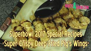 deep-fried pork, crispy pig's wings, super-crispy coating, deep fried pork skewers, how to, how to make, crispy deep-fried pork, how to make a crispy fried coating, recipes, cooking, pig's wings, superbowl recipes, best superbowl recipes, easy superbowl recipes, pork recipes, best pork recipes, deep-fried recipes, fried recipes, kfc chicken recipe, recipe,