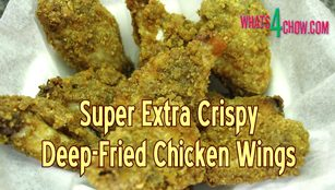 chicken wings, crispy, extra crispy, deep fried, how to make, how to, homemade, recipe, cooking, chicken recipes, how to make super crispy chicken wings, how to make extra crispy chicken wings, how to deep-fry chicken wings, crispy coating for chicken wings, very crispy chicken wings, crispy deep-fried chicken wings, make chicken wings at home, buffalo wings, buffalo wings recipe, crispy buffalo wings, extra crispy buffalo wings recipe, how to make extra crisp buffalo wings,