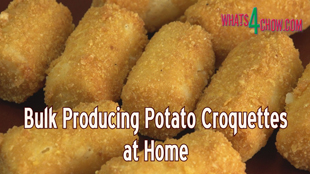 potato croquettes,how to make,how to cook,potato croquettes recipe,homemade potato croquettes,bulk producing potato croquettes,bulk manufacturing potato croquettes,bulk potato croquettes,sausage stuffer hacks,how to use a sausage stuffer,making potato croquettes at home,making bulk potato croquettes,crispy deep-fried potato croquettes,deep-fried,best potato croquettes,recipes,cooking