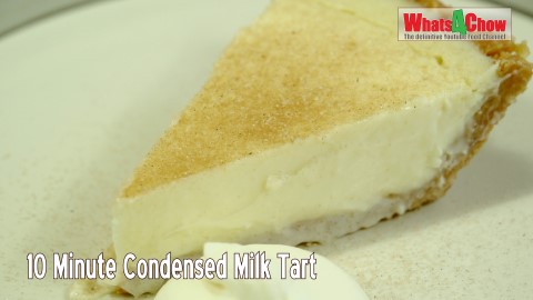 10 Minute Condensed Milk Tart No Bake Condensed Milk Tart Easy No Bake Tart Whats4chow Whats4chow