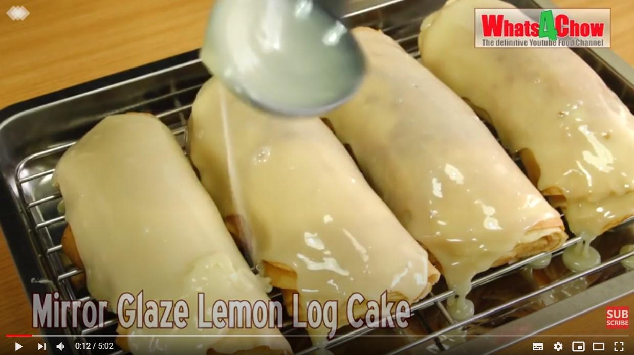 lemon log cake recipe